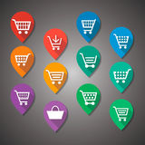 Shopping Cart Flat Design Tag Royalty Free Stock Photography