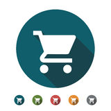 Shopping Cart flat Icon. With several color Royalty Free Stock Photo