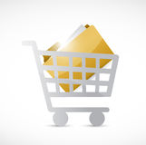 Shopping cart and folder illustration design Stock Photo