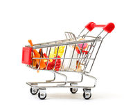 Shopping Cart with Food Stock Image