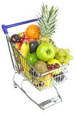 Shopping Cart with Fruit Stock Photography