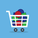 Shopping Cart Full Of Objects Stock Photos