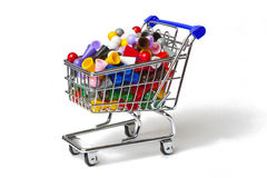 Shopping Cart Full of Pawns Stock Images