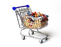 Shopping Cart Full of Pills Stock Image