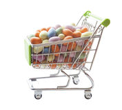 Shopping cart full of sweets and dessert. Candy Stock Photography