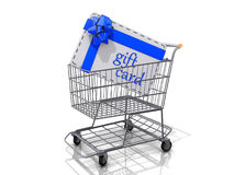 Shopping Cart Gift Cards. Royalty Free Stock Photo
