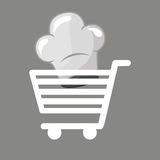 Shopping cart gourmet food Stock Photos