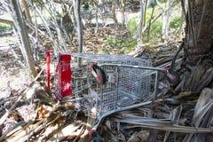 Shopping cart graveyard Stock Image
