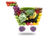 Shopping cart groceries Royalty Free Stock Photo