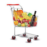 Shopping cart of groceries Royalty Free Stock Image