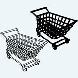 Shopping cart, grocery trolley Stock Image
