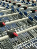 Shopping cart. Grouped and ready to be taken Royalty Free Stock Photography