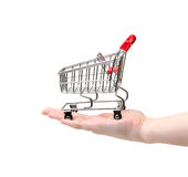 Shopping Cart on Hand Stock Photos