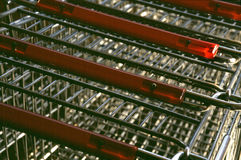 Shopping Cart Handles Royalty Free Stock Photography