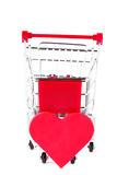 Shopping Cart with Heart Stock Image