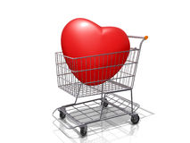 Shopping Cart Heart. Royalty Free Stock Images