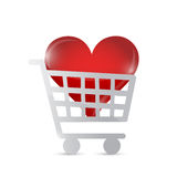 Shopping cart heart illustration design Royalty Free Stock Photography