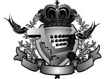 Shopping Cart Heraldry Sign Royalty Free Stock Image