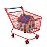 Shopping Cart House Stock Photo