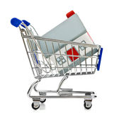 Shopping Cart with house Royalty Free Stock Photo