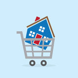 Shopping Cart House Royalty Free Stock Photo
