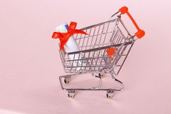 Shopping Cart with hundred euro as gift Royalty Free Stock Photo