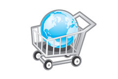 Shopping cart icon. Buy and sell shopping cart icon Stock Photography