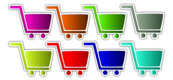 Shopping cart icon Stock Images