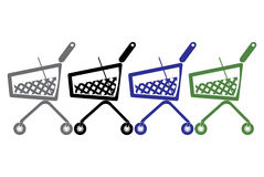 Shopping cart icon. The image of the shopping cart. A vector illustration Royalty Free Stock Photo