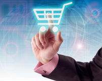 Shopping cart icon Royalty Free Stock Photography