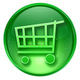 Shopping cart icon. Stock Photography