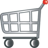 Shopping cart icon. Stylized shopping cart icon or symbol Stock Images
