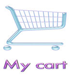 Shopping cart icon 3d Royalty Free Stock Photo