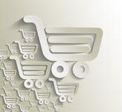 Shopping cart icon. Shopping basket design- vector illustration Stock Images