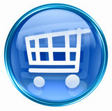 Shopping cart icon blue Royalty Free Stock Image