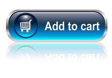 Shopping cart icon, button Stock Images