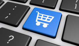 Shopping Cart Icon On Computer Keyboard Royalty Free Stock Photo