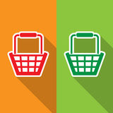 Shopping cart icon great for any use. Vector EPS10. Stock Image