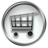 Shopping cart icon grey Stock Photography
