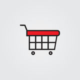 Shopping cart icon. Illustration  on white background for graphic and web design. Royalty Free Stock Photo