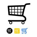 Shopping cart icon stock illustration