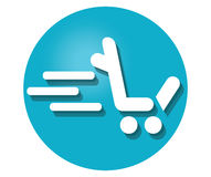 Shopping Cart Icon For L. Shopping Cart Icon Concept Design. AI 8 supported Stock Image