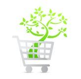 Shopping cart icon, organic Royalty Free Stock Photos