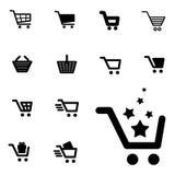 Shopping Cart Icon Set Isolated Royalty Free Stock Image