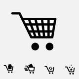 Shopping Cart Icon Set Isolated Royalty Free Stock Photo