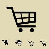 Shopping Cart Icon Set Isolated Stock Photo