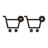 Shopping Cart Icon Set Stock Images