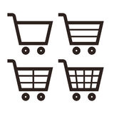 Shopping Cart Icon Set Royalty Free Stock Photos