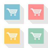 Shopping Cart 4 Icon set Vector EPS10, Great for any use. Stock Photos