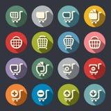 Shopping cart icon set Royalty Free Stock Image